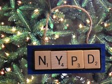 NYPD NY Police Department Scrabble Tiles Ornament Handmade Holiday Christmas