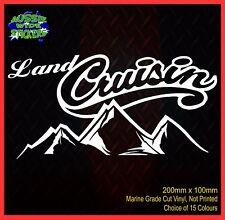 LANDCRUISER CRUISIN prado 80 120 150 series 4x4 Car Toyota Stickers 200mm
