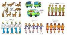 SCOOBY DOO MODEL SHEET PRINT SET - Daphne Velma Freddy Shaggy Scooby Mystery Van