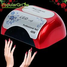 PopularGrow 48W CCFL&LED UV Nail Lamp Gel Curing Polish Dryer Light With Timer