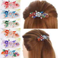 Bridal Styling Flower Barrettes Resin Floral Hair Clip Crystal Hairpin Headwear