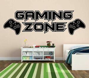 Gaming Zone Wall Stickers Xbox One  Gamer Vinyl Decals Kids Bedroom MEDIUM