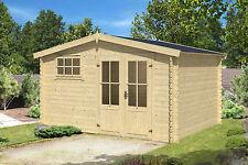 28 mm Gartenhaus 4x3 m & 4x4 m Gerätehaus Blockhaus Schuppen Qualität Holz
