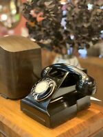 1950s  - Black Bakelite Rotary Phone