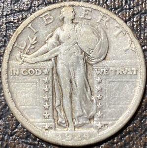 1924-D Standing Liberty Quarter. Nice Strong Full Date VF