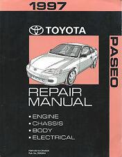 1997 Toyota PASEO Repair Manual, Complete in One Volume*Factory/Orig. # RM499U