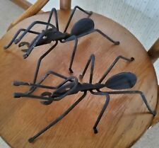 New listing Pair Of Wrought Iron Garden Bugs Ants