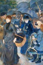 'Gli Ombrelli quadro - Stampa d''arte su tela telaio in legno'