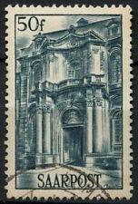 Saar 1948 SG#248, 50f Facade Of Mettlach Abbey Used #D14792