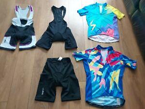 DHB Ladies Cycling Bibshorts shorts tops bundle size 10-12 Womans