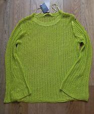 BNWT Next womens summer thin sweater jumper top size 16 green.