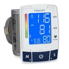 MeasuPro EasyRead Automatic Digital Wrist Blood Pressure Monitor with Heart Rate