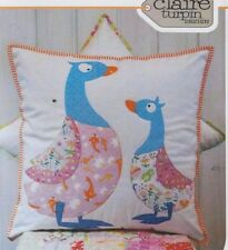 PATTERN - Quackers - cute applique ducks cushion PATTERN - Claire Turpin