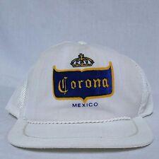 VTG Corona Beer Snapback Trucker Hat Mexico 80s Mesh Crown Cap Model Tecate