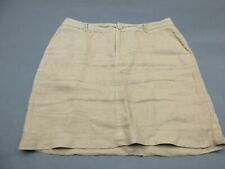 Tommy Bahama Size 10 Womens Brown 100% Linen A-Line Mini Skirt 864