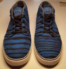 cheap for discount db1ed d54fa Nike Zoom Air Stefan Janoski Skate Boarding Shoes Size-12 mens Tiger Stripe  Blue