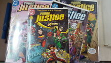 from JLA comic lot Young Justice 1-55 + extras []