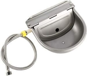 Automatic Water Bowl Farm Waterer Stainless Steel Horse with Drainage Hole Pipe