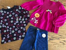 NEW Size 5 Girls Winter Clothes LOT Pink Floral Long- Sleeved NWT 5t Top Legging
