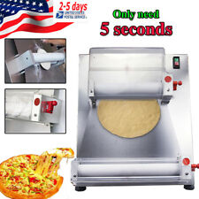 US Automatic Pizza Bread Dough Roller Sheeter Machine w/ Food Safe Resin Rollers