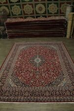 Nice S Antique Hand Knotted Plush Mashad Persian Area Rug Oriental Carpet 10X13