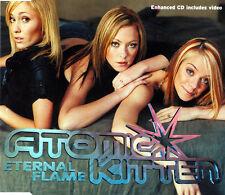 ATOMIC KITTEN ETERNAL FLAME 3 TRACK UK CD SINGLE & VIDEO FREE P&P