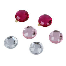 6xDiamond Crystal Home Button Sticker For Apple iPhone iPad Assorted Color TS
