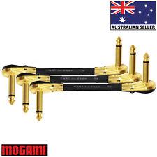 3 Units - 10cm Mogami 2524 - Guitar Effects Instrument Patch Cables - Z Shape