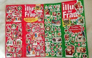 2 große Aufkleber-Bogen (Sticker) aus Zeitschrift -Weihnachten-