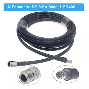 LMR-400 Coax Cable N Female to RP SMA-Male 5 Metre for Antenna Helium HNT 50Ohm