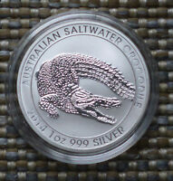 Salzwasser Krokodil 2014 Saltwater Crocodile 1 Unze OZ Silber Silver Perth Mint