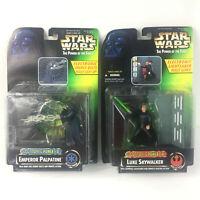Lot of 2 Star Wars POTF Electronic Power FX Palpatine Skywalker Kenner 1997 NEW