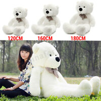 Large White Teddy Bears Huge Bow Giant Big Stuffed Soft Hot Plush Kids Toys Gift