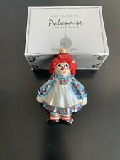 Kurt Adler Polonaise Collection Raggedy Ann Christmas Ornament - Free Ship