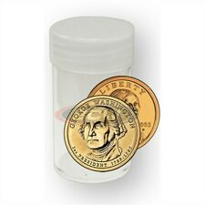 20 BCW Round Sacagawea / Presidential / Small US Dollar Clear Plastic Coin Tubes
