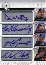 2004 Ultimate DON MATTINGLY WILL CLARK MARK GRACE KEITH HERNANDEZ Quad Auto 10