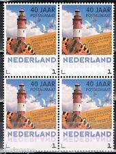 40 jaar postaumaat uit boekje PQ8 gegomd 3012 Vuurtoren - Lighthouse blok van 4