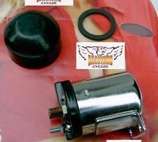 Chrome Starter Solenoid for Harley SHOVELHEAD Ironhead Sportster XL FX FL