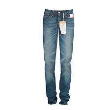 EVISU $250 slim skinny straight leg selvedge denim 1002 Komaba jeans 24 x 34 NEW