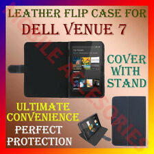 "ACM-LEATHER FLIP COVER & STAND for DELL VENUE 7 7"" TABLET CARRY CASE RICH POUCH"