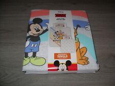 Disney Mickey Mouse Reversible Single Duvet Set - New