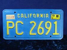 "1970's-80's California TRAILER License Plate ID Tag DMV CLEAR! ""PC 2691"" Great!!"