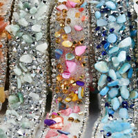 Bling Rhinestone Crystal Ribbon Wedding Dress Crafts Sewing Decor Trims 1 Yard