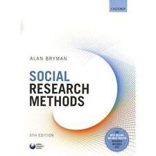 Social Research Methods by Alan Bryman (Paperback, 2015)