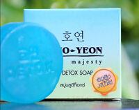 Ho Yeon Facial Herbal Blue Detox Soap Whitening ClearSpot SkinClean Reduce Acne