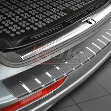 VW PASSAT B6 ESTATE 2005-2010 Rear bumper protector profiled  steel + carbon foi