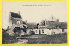 cpa FRANCE Picardie 60 - SAINT JEAN aux BOIS (Oise) COUR de FERME Eglise
