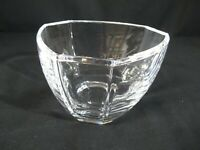 Tiffany & Co. Retired Crystal Bowl in Six Panels Triangle Shape Signed