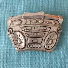 Famous Stars and Straps Vintage Belt Buckle Boombox Design