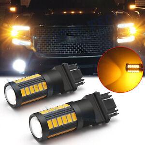 3157 LED Front Turn Signal Corner Blinker Light Bulb for GMC Sierra Yukon Savana